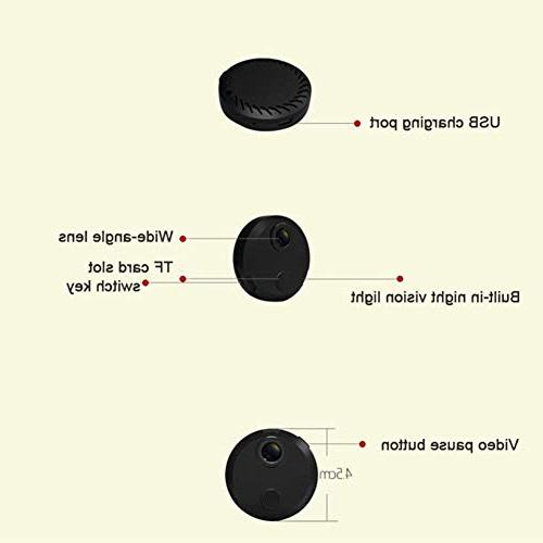 Feel-ling 1080P Wireless Camera,Mini Night Vision Car Camera for Remote Detection