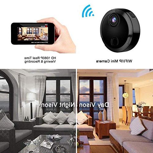 Feel-ling HD Camera,Mini WiFi Night Car Camera Remote with Detection