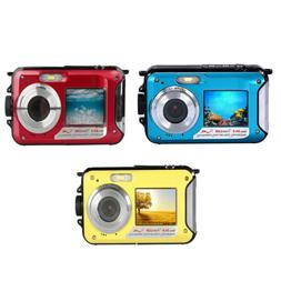 MagiDeal 1080P Waterproof Double Screen Full-color LCD Displ