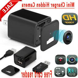 Mini Charger Security Cam USB 1080P Full HD 32GBCard Camcord