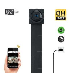 Toughsty 16GB 1280x720P HD Mini WiFi Hidden Camera Module FP