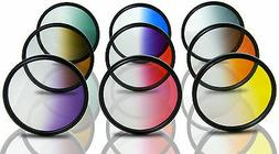 Opteka 52mm HD Multicoated Graduated Color Filter Kit For Di