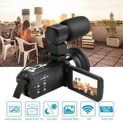 New HD 1080P 3.0 Inch Touch Screen WiFi Digital Zoom Video C
