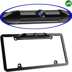 Night Vision License Plate Frame Car Rearview Camera 8 Infra