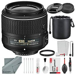 Nikon AF-S DX NIKKOR 18-55mm f/3.5-5.6G VRII Lens Bundle wit