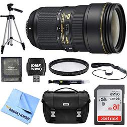 Nikon 24-70mm f/2.8E ED VR AF-S NIKKOR Zoom Lens 16GB Bundle