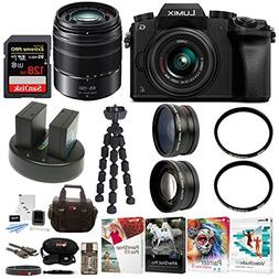 PANASONIC LUMIX G7 4K w/ 14-42mm & 45-150mm Lenses & 128GB B