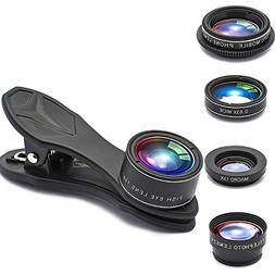 Phone lens 5 in 1 GUANZHI HD Camera Lens Kit 198 Degree Fish