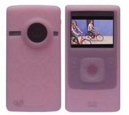 Pink Soft Silicone Skin Case for Flip Ultra HD Camcorder 8 G