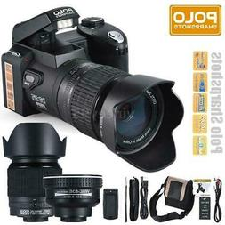 "POLO D7100 ULTRA HD 33MP 3"" LCD 24X ZOOM LED Digital DSLR Ca"