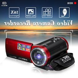 Portable HD 16X Digital Video Camera DV Camcorder 16MP Zoom