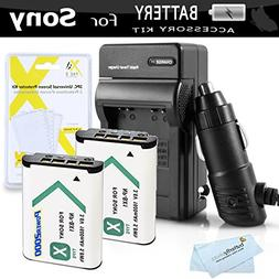 2pk Replacement NP-BX1 Battery And Charger Kit For Sony DSC-