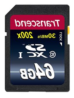 Transcend 64GB SDXC Class 10 Flash Memory Card Up to 30MB/s