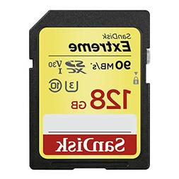 SanDisk 128GB Extreme SDXC UHS-I Memory Card - 90MB/s, C10,