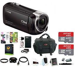 Sony HDR-CX405 1080p Full HD 60p Handycam Camcorder w/Two 32