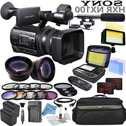 Sony HXR-NX100 w/ Reality TV Bundle: Includes Shotgun Mic, H