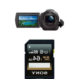 Sony 4K HD Video Recording FDRAX33 Handycam Camcorder with M