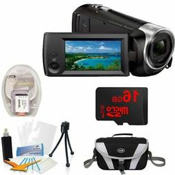 Sony HDRCX405 HD Video Recording Handycam Camcorder Bundle w