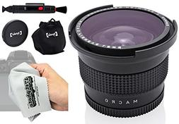 Opteka .35x Professional HD Super AF Wide Angle Fisheye Lens