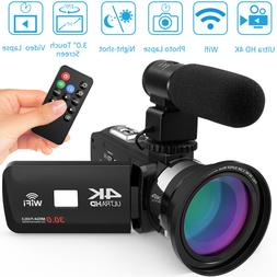 ULTRA 4K HD 1080P WiFi 48MP Digital Video Camera Camcorder R