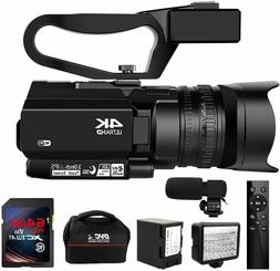 Video Camera 4K Camcorder Ultra HD 48MP 30X Digital Zoom Cam