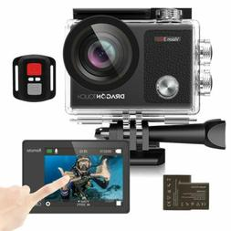 Dragon Touch Vision 3 Pro 4K/30fps Action Camera WIFI HD Cam