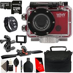 Vivitar DVR794HD Wi-Fi Waterproof Action Camcorder  + 32GB M