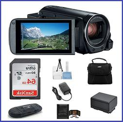 Canon VIXIA HF R80 Full HD Camcorder Bundle, includes: 64GB