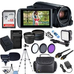 Canon Vixia HF R82 Wi-Fi 1080p HD Video Camera Camcorder + 3