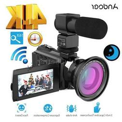 "Andoer WiFi 4K FULL HD 1080P 48MP 16X ZOOM 3"" LCD Digital Vi"