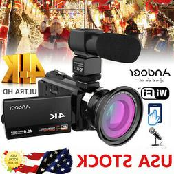 WiFi 4K ULTRA HD 48MP 1080P Digital Video Camera Recorder Ca