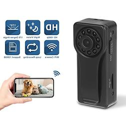1080P HD Wireless WiFi Spy Camera- Mini Portable Hidden Body